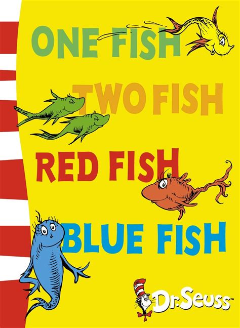 pictures of dr seuss book covers one fish two fish fish blue fish the eager