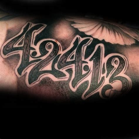 tattoo ideas numbers 70 number tattoos for men numerical ink design ideas