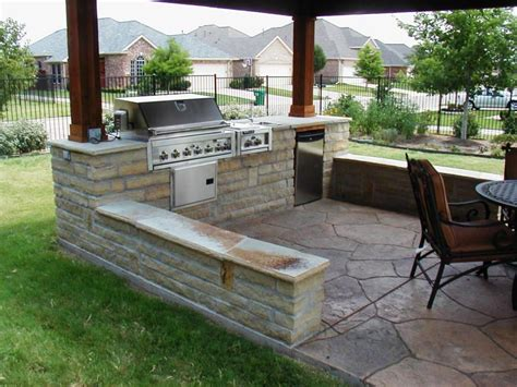 outdoor bbq area designs