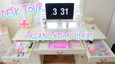 Desk Tour How To Organize Your Desk Youtube Ways To Organize Your Desk