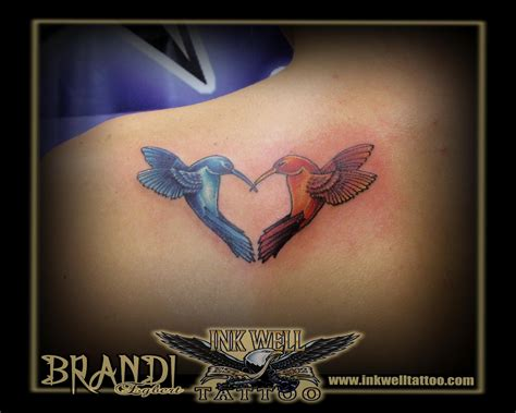 hummingbird heart tattoos hummingbird two cake ideas and designs