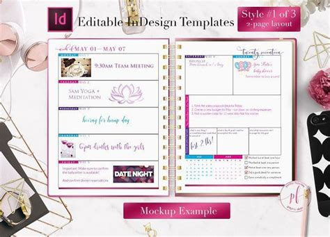 templates agenda indesign 17 best images about filofax planner agenda happy