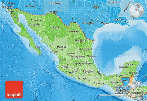 map of mexico political political shades map of mexico