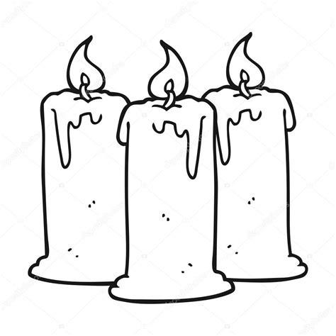 imagenes blanco y negro de halloween blanco y negro dibujos animados velas encendidas archivo