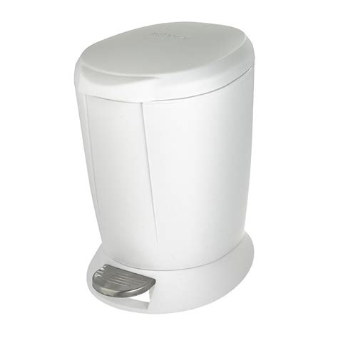 white plastic bathroom bin simplehuman plastic bathroom bin white 6l ebay