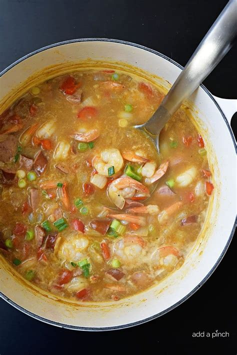 printable gumbo recipes easy shrimp and sausage gumbo recipe add a pinch