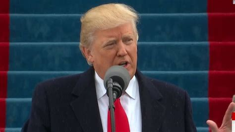 donald trump inauguration speech trump power coming back to the people cnn video