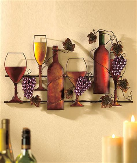 wine home decor wine grapes metal wall hanging vineyard kitchen home decor