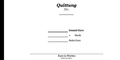 Muster Quittung Word Kostenlos Quittung Als Pdf Datei Convictorius