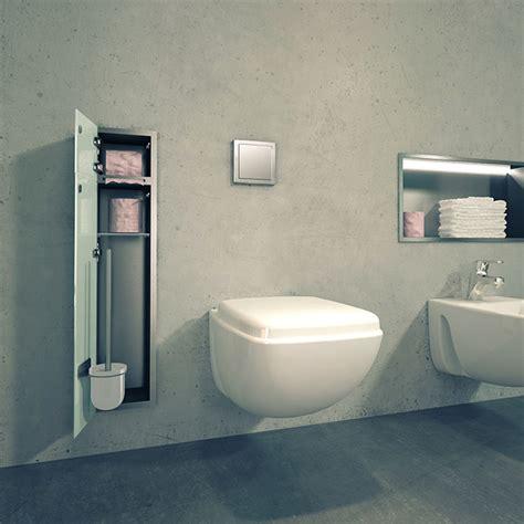 niche de douche  encastrer avec eclairage led pour salle de bain