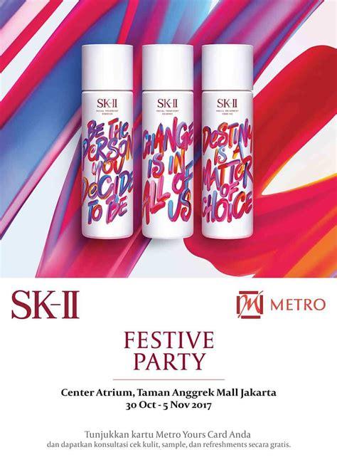 Sk Ii Di Metro sk ii festive metro dept store indonesia