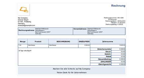 german invoice template 28 images german invoice
