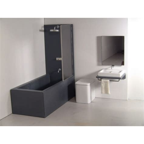 bath shower units combined modern dollhouse furniture m112 pods single vanity bath unit with tub shower and toilet by