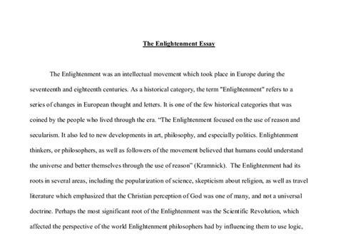 Enlightenment Essay by The Enlightenment Essay A Level History Marked By Teachers