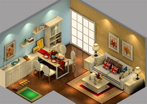 layout interior british house interior layout 3d view