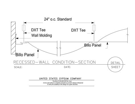 section 125 plan detail usg design studio billo 3 d ceiling system panels