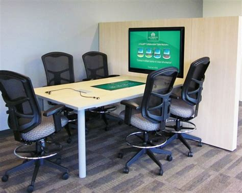 Interactive Meeting Table Touchscreen Interactive Table Technology For Trade Shows