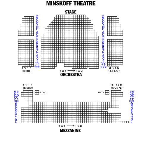 minskoff theatre seating plan new york image gallery minskoff theatre