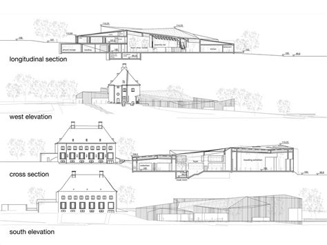 section and elevation aeccafe archshowcase