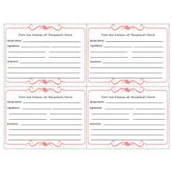 free recipe template 5 free printable recipe card templates for