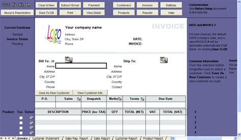 invoice template with vat vat invoice template