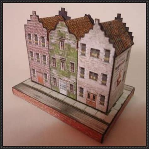 free paper model buildings downloads papercraftsquare com new paper craft european houses