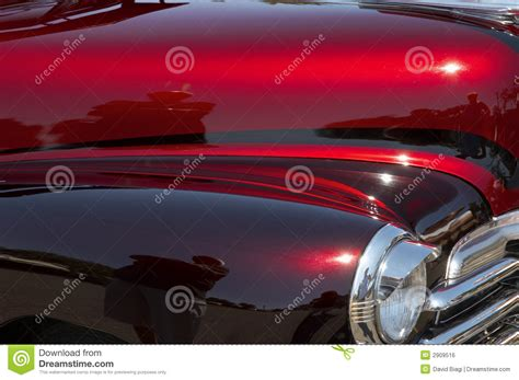 Red & Maroon Custom Car stock photo. Image of display