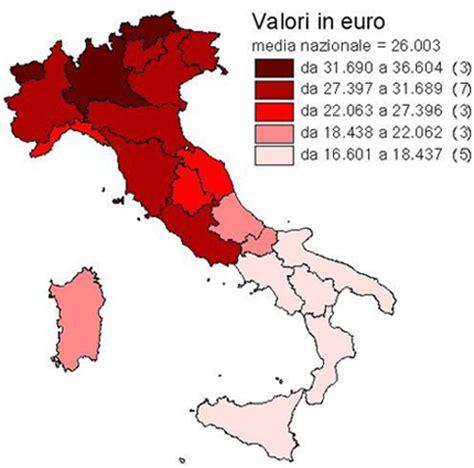 prodotto interno lordo regioni italiane conti economici regionali