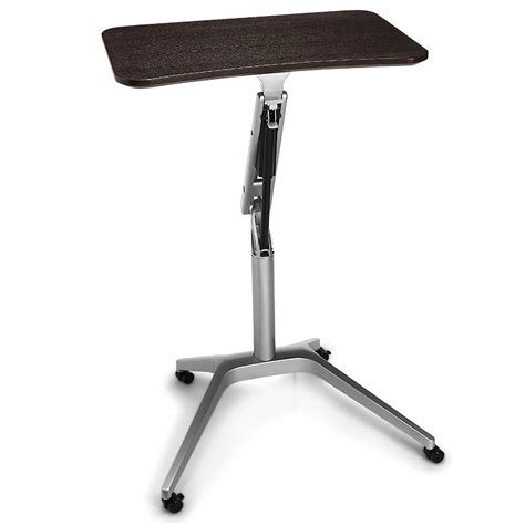 rolling stand up desk sit to stand rolling workstation levenger 174