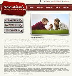 website templates for youth ministry church website template 242 christian church template