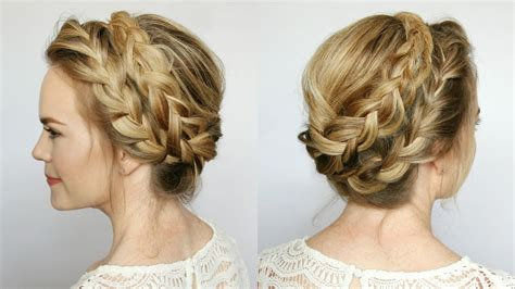 braided hairstyles milkmaid french milkmaid braids missy sue youtube