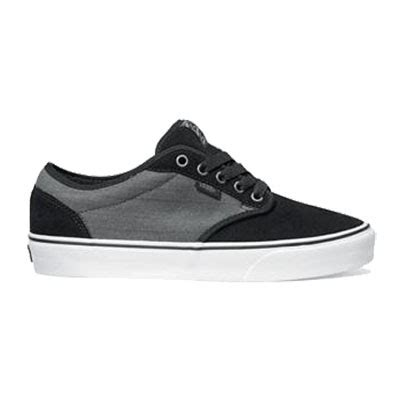 vans atwood textile shoes in black grey
