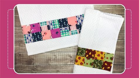 How To Sew Patchwork - how to sew patchwork to kitchen towel with crafty
