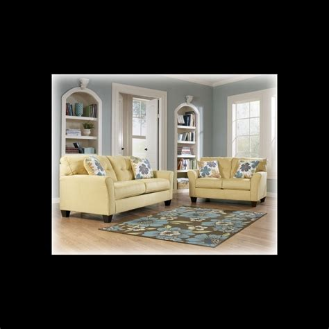 living room packages ashley furniture kylee goldenrod living room package