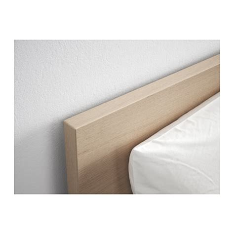 malm bed frame high white stained oak veneer lur 246 y