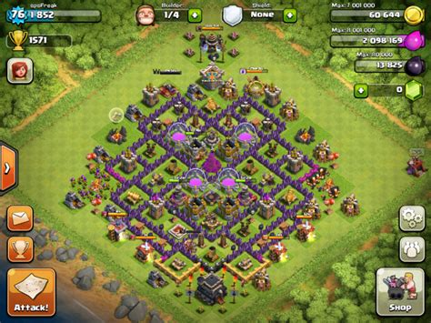 clash of clans layout strategy level 9 clash of clans tips town hall level 9 layouts