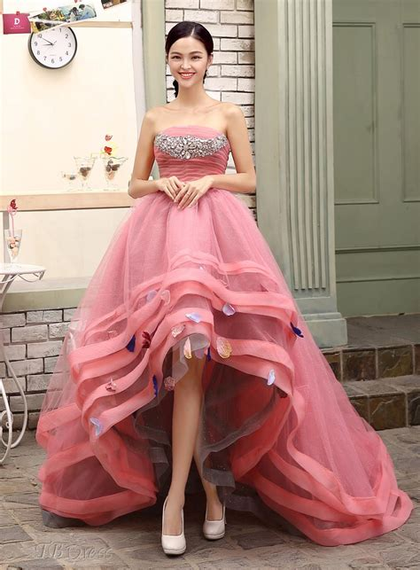 low cost wedding dresses los angeles 2017 strapless pink quinceanera dress sweet 16 dresses