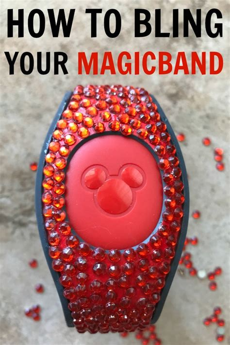 disney magic band bling how to add rhinestones and easy sand and snow