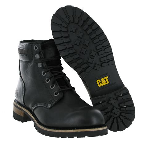 Carterpillar Leather Boots mens cat caterpillar sequoia non safety leather fashion