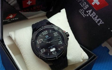 Swiss Army 1135 3g C Black Steel jual jam tangan swiss army 1132 3g c original tali rubber