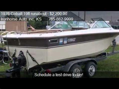 cobalt boats ks 1976 cobalt 19ft runabout cuddy for sale in topeka ks