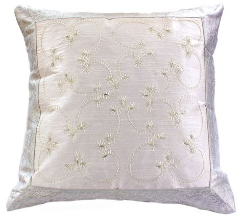 Embroidered Pillow Cover by Embroidered Accent Pillow Cover Banarsi Designs
