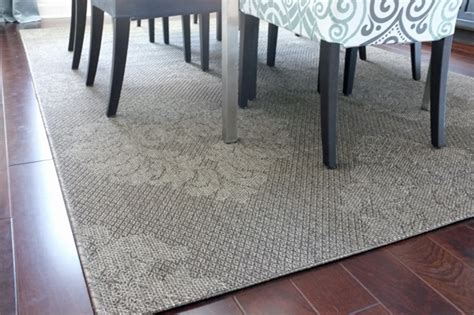 Grey 8x10 Area Rug by Outdoor Rug In The Dining Room