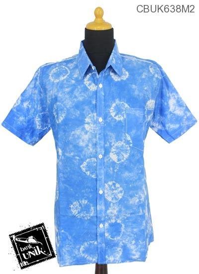 Kemeja Pelangi kemeja batik motif pelangi bundel celup kemeja lengan
