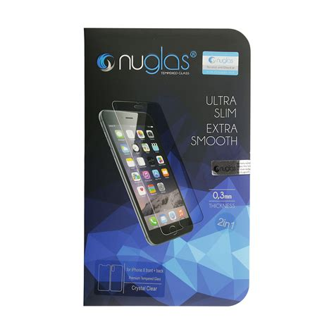 nuglas tempered glass for iphone x front back fixez