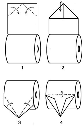 toilet paper origami boat - How To Make A Boat Out Of Toilet Paper Roll