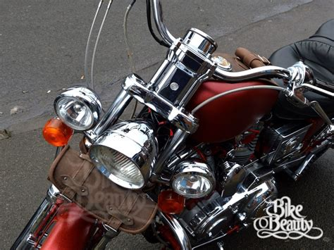 Jam Harley Davidson Dyna Brown Box brown leather pouch tool roll bag harley davidson softail