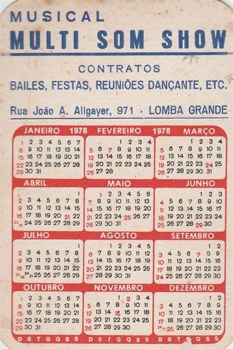 Calendario Q Calend 225 Bolso 1978 Imagem Mulher Nua Q1 R 9 40