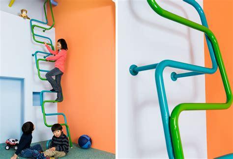 Interior Columns For Homes colorful modern interior ladders for kids design milk