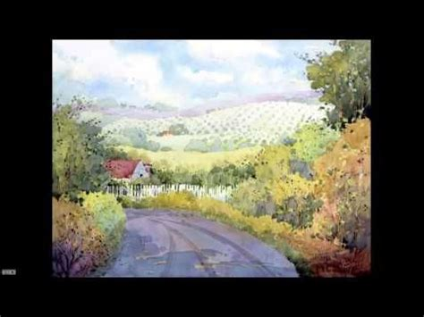 watercolor landscape tutorial youtube painting beautiful watercolor landscapes with joyce hicks